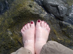 It was very welcome to have my feet in the water as it was about 36 degrees!