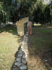 A sculpture I saw at Kibbutz Ginosar when I went to look at the ancient boat.